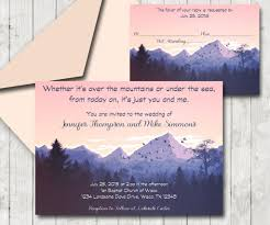 Wedding Invitation Reply Cards Rustic Mountain Sunset Themed Wedding Invitation And Reply Card