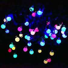solar outdoor string lights 30 led colorful solar
