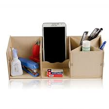Desk Organizer Box Wooden Diy Desk Desktop Organizer Box Storage Cabinet Pencil Pen