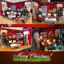 dollhouse miniature diy kit cover led music christmas xmas living