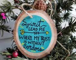 ornament best friend gift wood slice