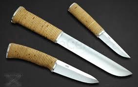 pekka tuominen custom 3 piece nordic hunting knife set birch bark