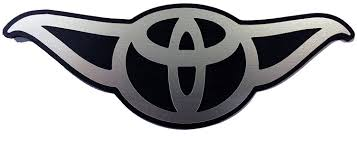 toyota car logo amazon com toyota yoda toyoda star wars vehicle car badge emblem