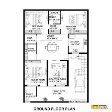 rectangle house floor plans super ideas 5 one bedroom house plans for 30x50 alternate floor