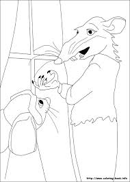 tale despereaux coloring picture