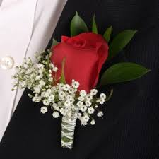 Corsage Prices Rose Red And White Boutonniere And Corsage Wedding Package