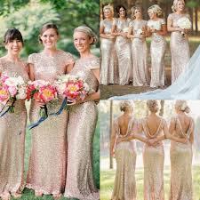 gold bridesmaid dresses aliexpress buy gold mermaid bridesmaid dress ivory