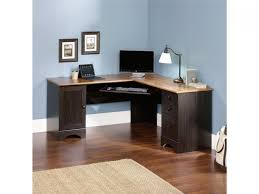paneled wood desk home office furniture set in medium walnut