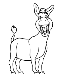 of donkey colouring pages within donkey coloring pages learn