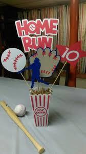 baby shower baseball theme lovely idea baseball themed centerpieces centerpiece 1 home run by