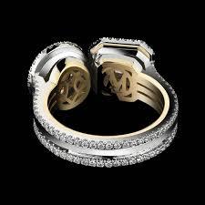oval cut diamond alexandra mor two princess cut and oval cut diamond ring for