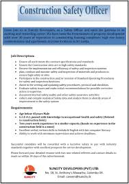 safety officer resume construction construction safety officer