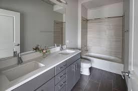 Modern Gray Tile Bathroom Gray Bathroom Ideas Photogiraffe Me