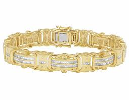 bracelet diamond yellow images Real diamond yellow gold finish men 39 s designer bracelet 1 2 ct 12mm jpg