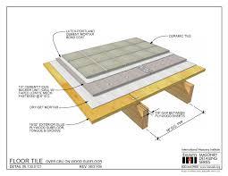 06 130 0101 floor tile cbu on wood subfloor