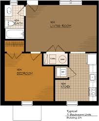 One Bedroom Apartment Floor Plans by Apartments Townhomes Office Space Retail Commercial Clinton Township