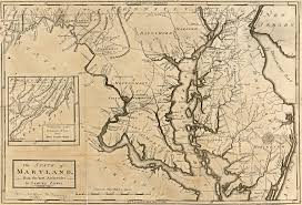 Colonial Map Of America by Map Of Maryland
