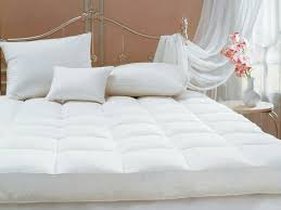 Hotel Mattress Topper Bedroom Elegant White Bed Linens With Striped Queen Memory Foam