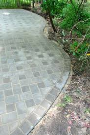 Paver Patio Edging Options Paver Patio In A Small Space Brick Bordered Planting Areas