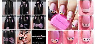 easy hello kitty nail art tutorials 2014 for beginners u0026 learners