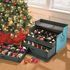 Christmas Decorations Storage Box by 3 Drawer Christmas Ornament Storage Chest Improvements Catalog
