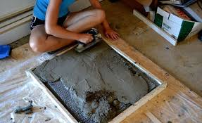 How To Make A Concrete Bench Top How To Make Diy Concrete Countertops Apartment Therapy