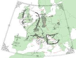 Map Of Mordor Gis Ninja Georeferencing Middle Earth