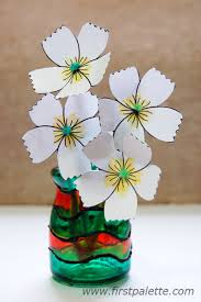 Stained Glass Vase Stained Glass Jars Craft Kids U0027 Crafts Firstpalette Com