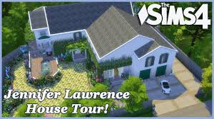 Jennifer Lawrence Home by The Sims 4 Jennifer Lawrence 2 0 House Tour Youtube