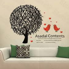 news home wall decor you are here shop world good home wall decor birds love large decals stickers appliques