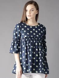 top design polka dot tops buy polka dot tops in india