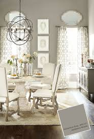 best white dining set ideas pinterest farmhouse gray dining room with pedestal table and white upholstered chairs benjamin moore galveston