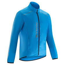 cycling jacket blue cycling jacket waterproof 300 blue decathlon