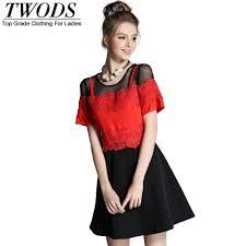 online get cheap red black lace skater dress aliexpress com