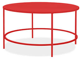 slim round cocktail table in colors modern cocktail u0026 coffee