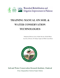 training manual on soil u0026 water conservation technologies pdf