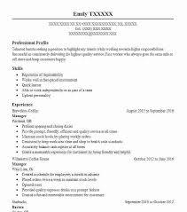 sample resume for barista position bartender resume hospitality