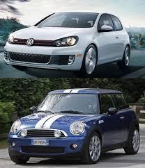 volkswagen mini hatch rivalry mini cooper s vs volkswagen gti