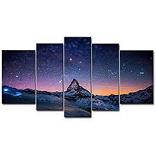 amazon com fresh look color 5 piece wall art painting starry