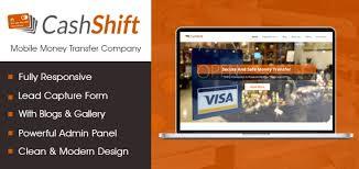 cashshift mobile money transfer wordpress theme u0026 template