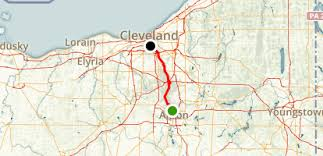 map of the erie canal ohio and erie canal towpath trail ohio maps photos for