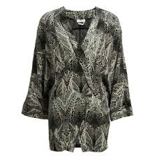 day birger day birger et mikkelsen feather print jacket in grey