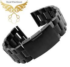 mens black steel bracelet images 14mm 16mm 18mm 20mm 22mm 24mm 26mm black new mens black metal jpg