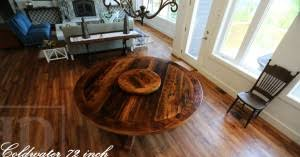 24 round pedestal table reclaimed wood pedestal table with lazy susan 8 blog