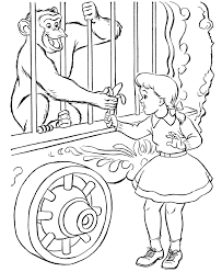 coloring pictures of monkeys kids coloring