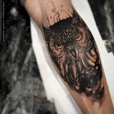 owl with piercing eyes best tattoo design ideas