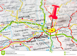 Map Of Florence Italy by Florence On A Map Stock Photo Image 53875011
