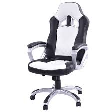 White Chair Desk by Amazon Com Giantex High Back Racing Style Bucket Seat Gaming