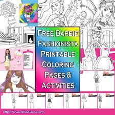barbie fashionista free printables skgaleana