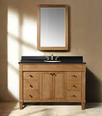 48 In Bathroom Vanity With Top Classic 48 Inch Weathered Oak Bathroom Vanity With Black Granite